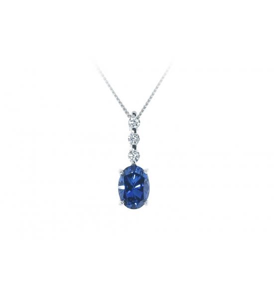 ScBlue Sapphire Pendant