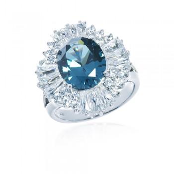 ScBlue Green Zirzon Ring